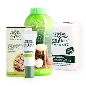 De Leaf Thanaka Set 3 Items (Cream 8g, Soap 100g, Powder 100g)