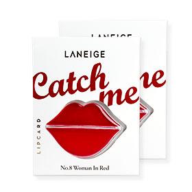 แพ็คคู่ Laneige Lip Card #No.8 Woman In Red(สินค้านี้ไม่ร่วมรายการซื้อ 2 ชิ้นฟรีค่าจัดส่ง)