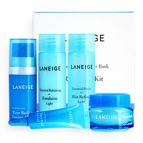 Laneige Basic & New Water Bank Refreshing Kit 5 Items (New Package)