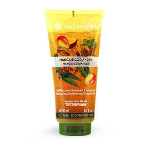 Yves Rocher Energizing Exfoliating Shower Gel 200ml #Mango Coriander