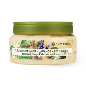 Yves Rocher Relaxing Sugar Body Scrub Orange Blossom Lavender Petitgrain 150ml