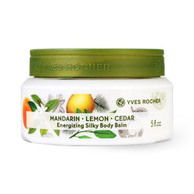 Yves Rocher Energizing Silky Body Balm Mandarin Lemon Cedar 150ml