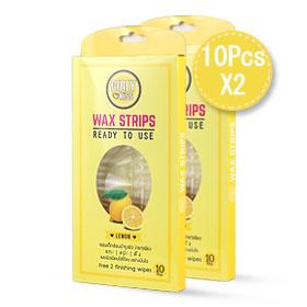 แพ๊คคู่ Girly Kiss Wax Strips #Lemon (10pcs x 2 boxes)