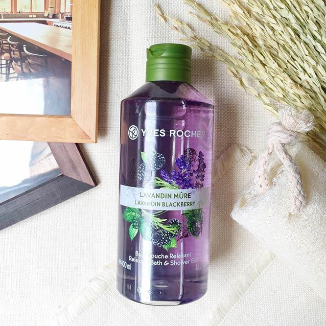 Yves Rocher Relaxing Bath & Shower Gel 400ml #Lavandin Blackberry_1