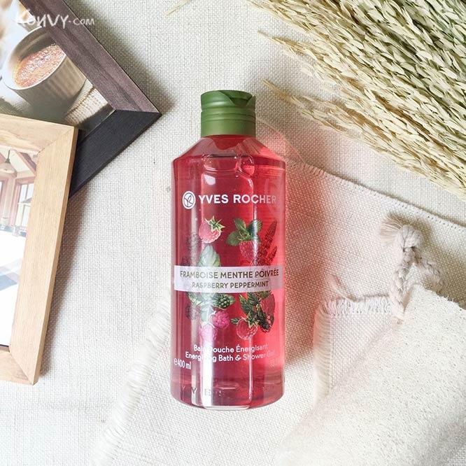 Yves Rocher Energizing Bath & Shower Gel #Raspberry Peppermint_1
