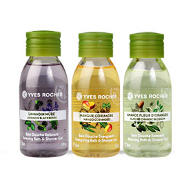 Yves Rocher Bath & Shower Gel Set 3 Items (Lavandin Blackberry 50ml +Mango Coriander 50ml +Almond Orange Blossom 50ml)