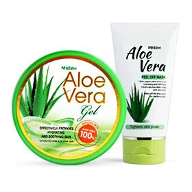 Mistine Aloe Vera Set 2 Items(Gel 50g + Peel Off Mask 50g)
