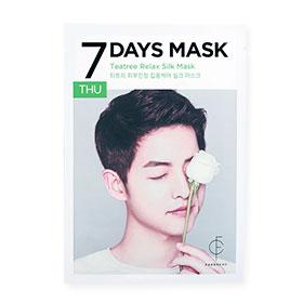 Forencos 7Days Mask 1 Sheet #Teatree Relax Silk Mask-Thu(สินค้านี้ไม่ร่วมรายการซื้อ 2 ชิ้นฟรีค่าจัดส่ง)