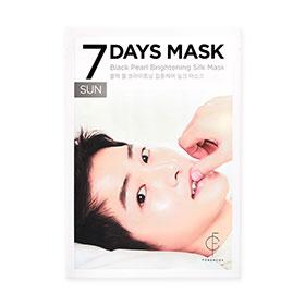 Forencos 7Days Mask 1 Sheet #Black Pearl Brightening Silk Mask-Sun(สินค้านี้ไม่ร่วมรายการซื้อ 2 ชิ้นฟรีค่าจัดส่ง)