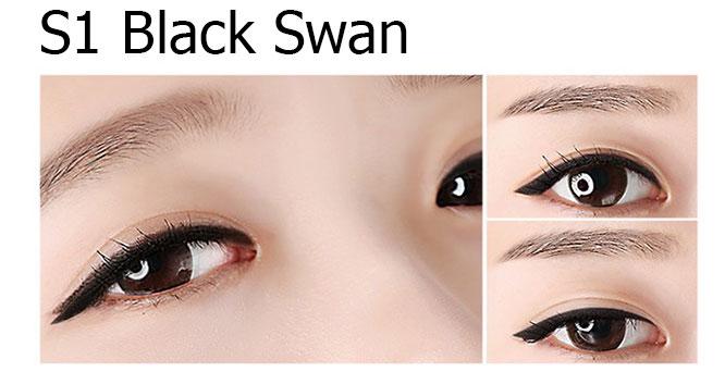 Eglips Super Slim Auto Long Eyeliner #S1 Black Swan_2