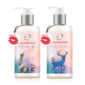Earths Passion Perfume Set 2 Items (Shower Gel 250ml + Body Lotion 250ml)