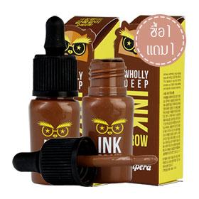 ซื้ิอ 1 แถม 1 Peripera Wholly Deep Ink Brow 8g #2 Soft Brown