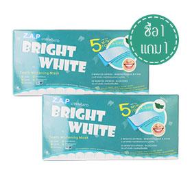 ซื้อ 1 แถม 1 Z.A.P Bright White Teeth Whitening Mask #Mint (7pcsx2)