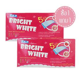 ซื้อ 1 แถม 1 Z.A.P Bright White Teeth Whitening Mask #Strawberry (7pcsx2)