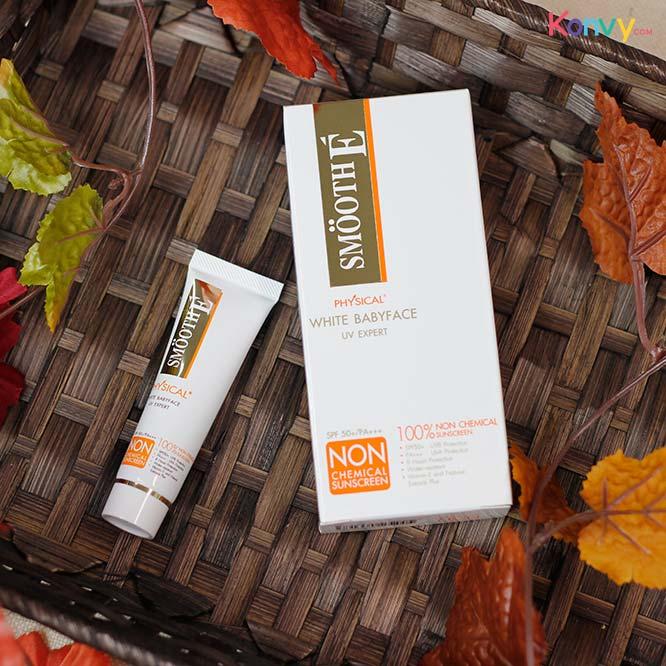 Smooth E Physical White Babyface UV Expert SPF50+/PA+++ #Beige_1