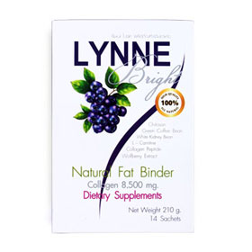 LYNNE Bright Natural Fat Binder Collagen 8,500 mg. 14 Sachets