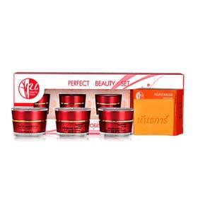 Nuntakar Perfect Beauty Set 4 Items (Orange & Carrot Soap + Yong Milk Facial Cream + Sun Block Cream + Gigawhite Complex Cream)