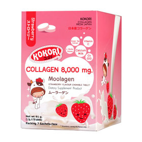 Kokori Moolagen Strawberry Collagen 8,000 mg (70 tablets)