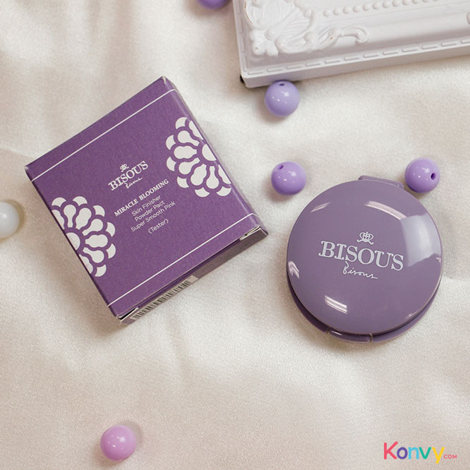 Bisous Bisous Miracle Blooming Skin Finisher Powder Pact Super Smooth Pink_2
