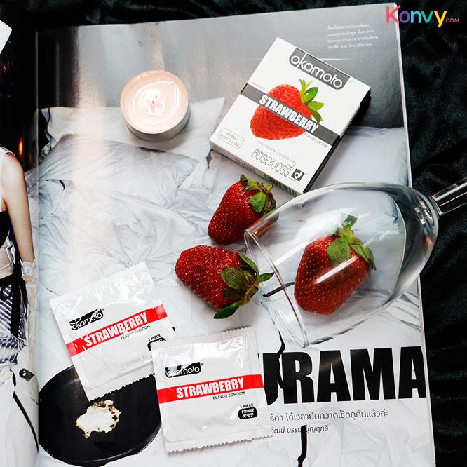 Okamoto Strawberry Flavor Condom 53mm (2pcsx3boxes)_2