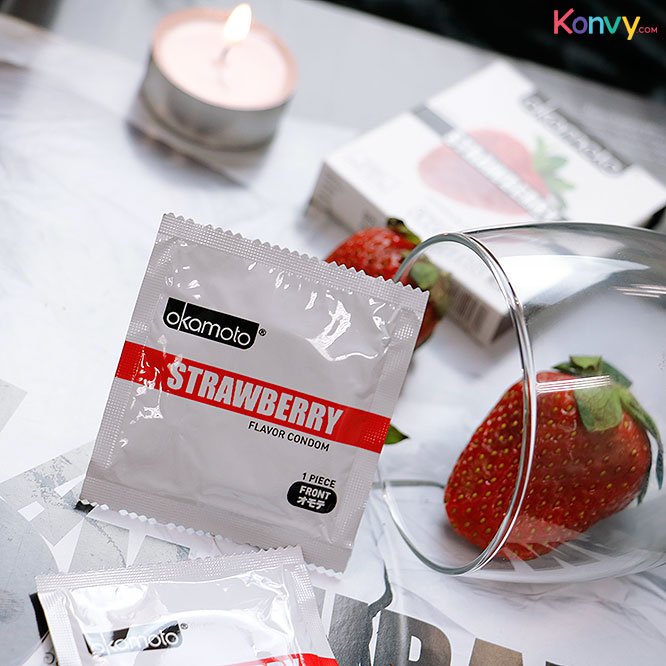 Okamoto Strawberry Flavor Condom 53mm (2pcsx3boxes)_3