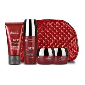 Oriental Princess Red Natural Whitening Phenomenon Set 4 Items (Cleansing Foam 50g, Toner 50ml, Day Cream 20g, Night Cream 20g)