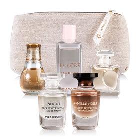 Yves Rocher Mini Perfumes Set 5 Items(Evidence EDP 7.5ml+Quelques EDP 5ml+Neroli EDP 5ml+Vanille EDP 5ml+So Elixir Bois EDP 5ml)