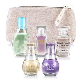 Yves Rocher Mini Perfumes 5 Items(Moment EDP 5 ml+Naturelle EDT 7.5ml+Jasmin EDP 5ml+So Elixir EDP 5ml+So Elixir Purple EDP 5ml)