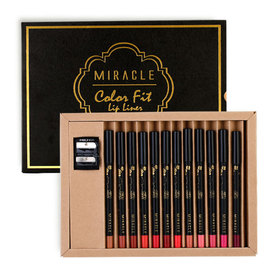 Mei Linda Miracle Color Fit Lip Liner Box Set 12pcs (Free! Sharpener)