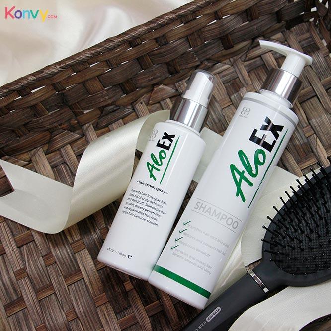 AloEx Hair Regrowth Set (Shampoo 200ml + Serum 120ml) 2pcs_1