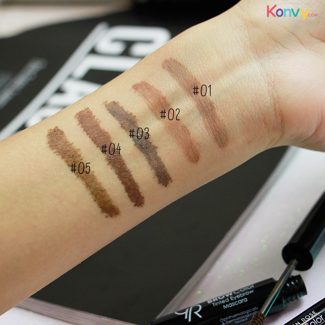 Golden Rose Brow Color Tinted Eyebrow Mascara #02_3