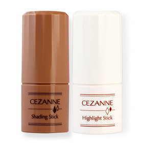 Cezanne Special Duo Set (Shading Stick 5g #Matte Brown + Highlight Stick 5g #White)