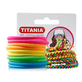 Titania Elastic Mixed Colours 10+4 pieces