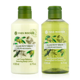 Yves Rocher Duo Set Relaxing Olive Lemongrass (Shower Gel 200ml & Body Lotion 200 ml)