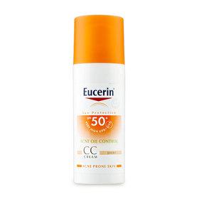 Eucerin Sun CC Cream Acne Oil Control SPF50+ PA++++ 50ml #Light (No Box)