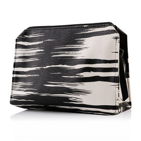 Estee Lauder Black And White Striped Bag