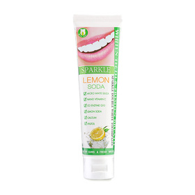 Sparkle Double White Toothpaste 100g #Lemon Soda (Tube)