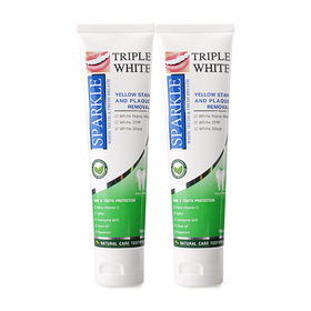 ซื้อ1 แถม 1 Sparkle Triple White Toothpaste (100g x 2)