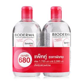 แพ็คคู่ Bioderma Sensibio H2O Make-up Removing Micelle Solution (500mlx2)