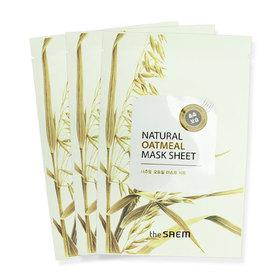 The Saem Natural Oatmeal Mask Sheet 3pcs(สินค้านี้ไม่ร่วมรายการซื้อ 2 ชิ้นฟรีค่าจัดส่ง)