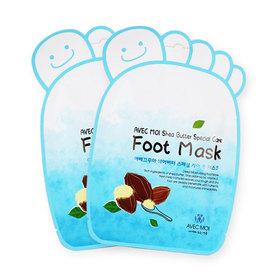 แพ็คคู่ Avec Moi Shea Butter Special Care Foot Mask (2pcs)