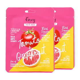 แพ็คคู่ Verena Envy Facial Mask Tomato & Grapefruit (22ml x 2)