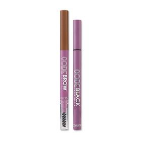 Cosluxe Set 2 Items (Eyeliner Code Black Super Matte Waterproof Pen Liner + Eyebrow Code Brow Pencil #02)