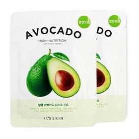 แพ็คคู่ It's Skin The Fresh Mask Sheet Avocado 2pcs