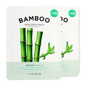 แพ็คคู่ It's Skin The Fresh Mask Sheet Bamboo 2pcs
