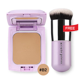 Cute Press Evory Retouch Oil Control Foundation Powder SPF 30 PA+++ 12g #B2 Free Evory Retouch Brush