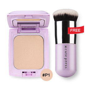 Cute Press Evory Retouch Oil Control Foundation Powder SPF 30 PA+++ 12g #P1 Free Evory Retouch Brush