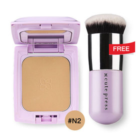 Cute Press Evory Retouch Oil Control Foundation Powder SPF 30 PA+++ 12g #N2 Free Evory Retouch Brush