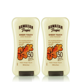 ซื้อ1แถม1 Hawaiian Tropic Sheer Touch Sunscreen Lotion SPF50 120ml
