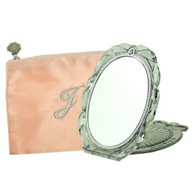 Jill Stuart Compact Mirror II with Zipper Pouch